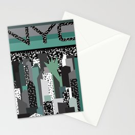 Postmodern 80's NYC Travel Poster Stationery Cards