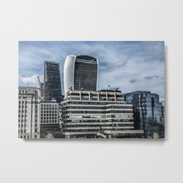 London Walkie Talkie Building and Cheese Grater Building Metal Print