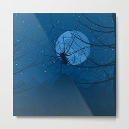 Spider at night Metal Print