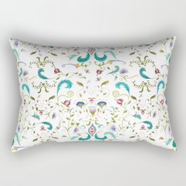 Wonderland (in white) Rectangular Pillow