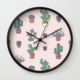 I Love Succulents Wall Clock