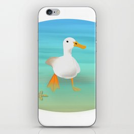 The Paddling Duck at the Se iPhone Skin