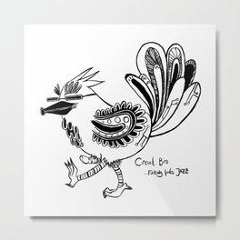 Circuit Bird Metal Print