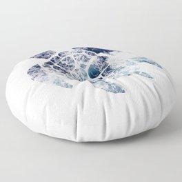 Sea Turtle - Blue Ocean Waves Floor Pillow