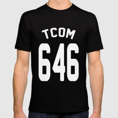 TCOM 646 AREA CODE JERSEY Black MEDIUM Mens Fitted Tee
