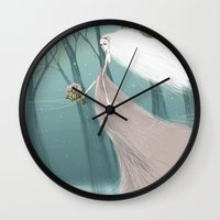 bride Wall Clocks featuring Bride by 7043