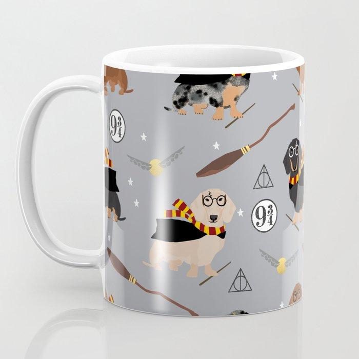 dachshund witch wizard magic wiener dog gifts Kaffeebecher