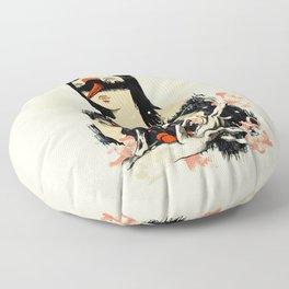 The Crane Wife Floor Pillow