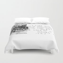 Drawing a day goes 100 Duvet Cover