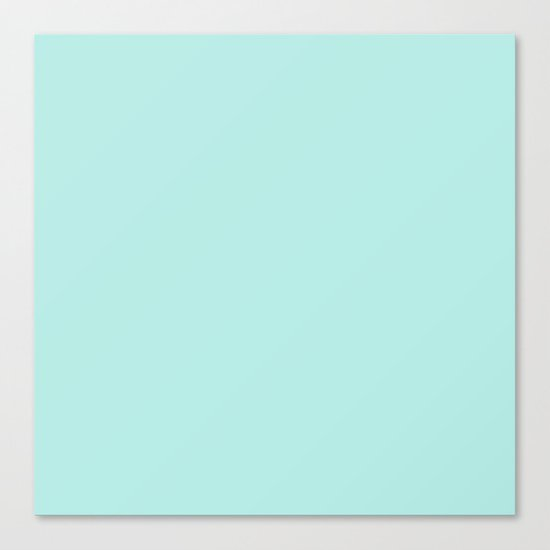 Simply aqua turquoise blue lightblue color - Mix and Match with Simplicity of Life on #Society6 Canvas Print