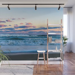 Pink Clouds Over The Atlantic Wall Mural