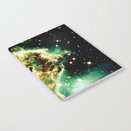 Monkey Head Nebula GalaXy Golden Green Notebook