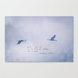 Wendell Berry Like a Bird Canvas Print