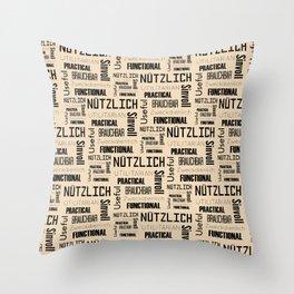 Nutzlich Pattern Throw Pillow