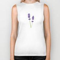 lavender Biker Tanks featuring Lavender by She's That Wallflower
