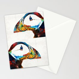 Colorful Puffin Art By Sharon Cummings Stationery Cards