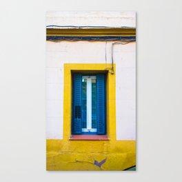 La ventana azul. Canvas Print