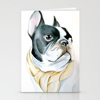 french bulldog Stationery Cards featuring French Bulldog by Dr.Söd