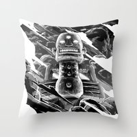 totem Throw Pillows featuring Totem by A P Schofield fine arts