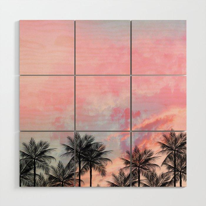 Summer Palm Tree Society6 Art Decor Wood Wall By Dxnid