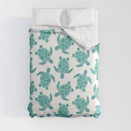 Save The Turtles in Teal Comforters