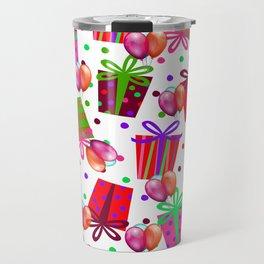 Birthday Gifts and Balloons Travel Mug