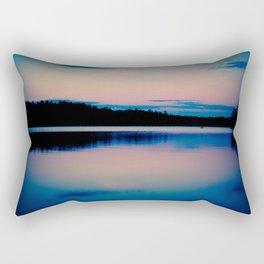 Boundary Waters Sunset Lake Photography Rectangular Pillow