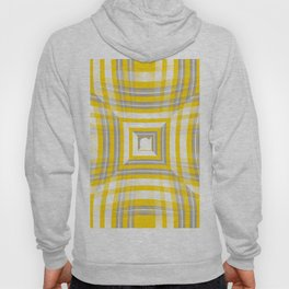 Squares And Stripes - White Yellow Grey #decor #society6 #buyart Hoody