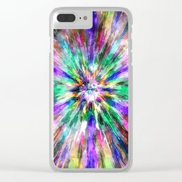 Abstract Spectral Tie Dye Clear iPhone Case