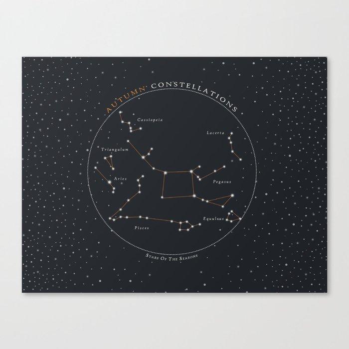 Autumn Constellations Star Chart Canvas Print