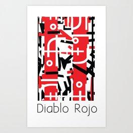 Diablo Rojo x Manuel Jaen (Red Devil) Art Print