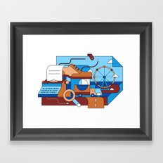 Story out of a Box Framed Art Print