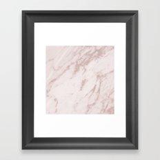 Real Rose Gold Marble Framed Art Print