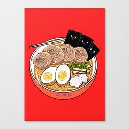 Ramen Pugs Canvas Print