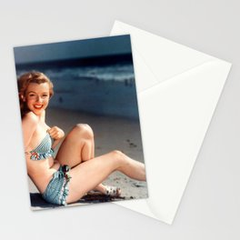 Marilyn on the beach Stationery Cards