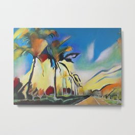 Palm Road Metal Print