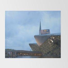 Zaha H A D I D | architect | Guangzhou Opera House Throw Blanket