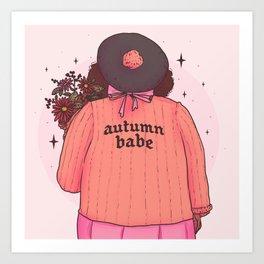 Autumn Babe Art Print