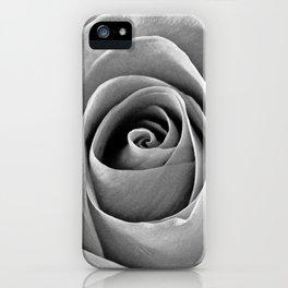 Rose 4 B&W iPhone Case