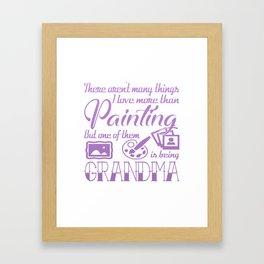 Painting Grandma Framed Art Print