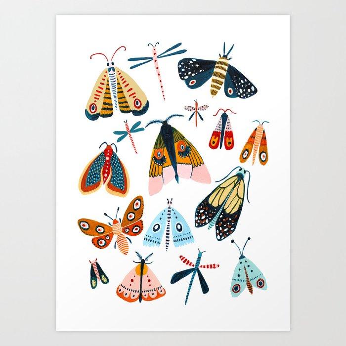 Moth Species Kunstdrucke