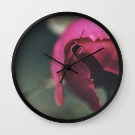 Winter Rose Wall Clock