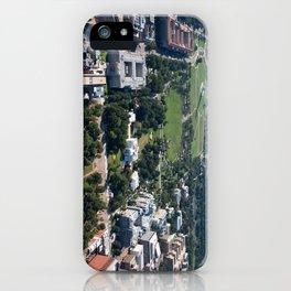 Lafayette Square Aerial Photograph iPhone Case