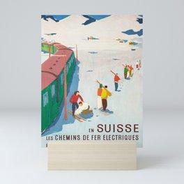 Nostalgie cff en suisse par le chemin de fer cff sbb Mini Art Print