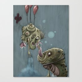 Kissing Moonslugs Canvas Print