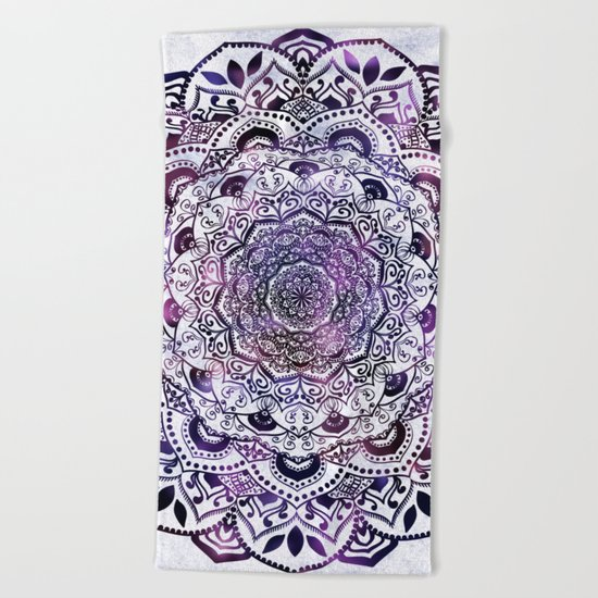 STARLIGHT MANDALA Beach Towel