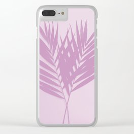 Palm Leaves #2 #Plum #decor #art #society6 Clear iPhone Case