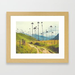 Wax Palms Tower over Colombian Coffee Plantation Fine Art Print Framed Art Print