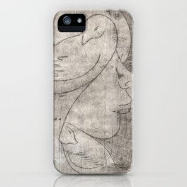Print of a girl iPhone Case