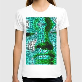 Green Buddha - Stone Rock'd Art By Sharon Cummings T-shirt